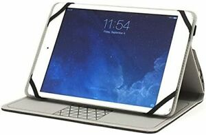 """Folio Universal Case for 9-10"""" Tablets Landscape Stand M-Edge Heather Grey"""