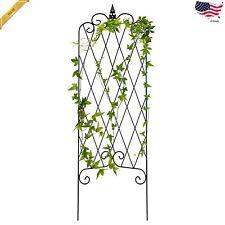 46x15 Iron Rustproof Lattice Garden Trellis Fence Panel Climbing Plants Vines