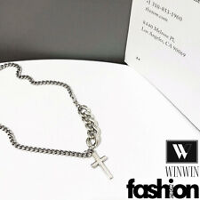 New Stainless Steel Alloy Jesus Cross Silver Chains Necklace Pendant Jewelry