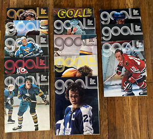 Buffalo Sabres GOAL Magazine - Lot of 13 Programs / Issues from 1970s  - Vtg NHL