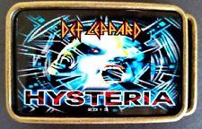 "Def Leppard "" Hysteria "" Rock Group Epoxy Photo Music Belt Buckle New!"