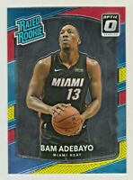 2017-18 Optic RATED ROOKIE RED & YELLOW PRIZM #187 BAM ADEBAYO RC QTY AVAILABLE