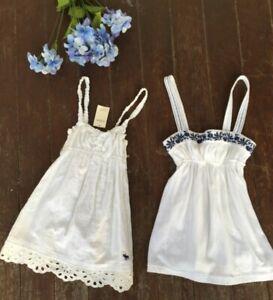 Abercrombie & Fitch girls shirt (2) Size S Small 1 NWT, 1 EUC sleeveless