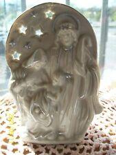 Vintage Holy Family Votive Candle Holder St. Joseph Virgin Mary Baby Jesus