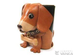 Beagle Handmade Leather Dog Eyeglasses Holder/Stand *VANCA* Made in Japan #26201