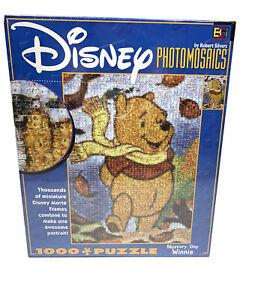 Disney Photomosaics Jigsaw Puzzle Blustery Day Winnie the Pooh 1000pc Large Box