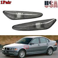 Pair Smoke Lens LED Side Marker Light Signal Lamp for BMW E46 3-Series 2002-2005