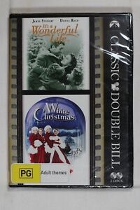 It's a Wonderful Life & White Christmas Classic Double Region 4 New Sealed (D837