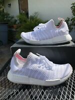 ADIDAS NMD R1 PRIMEKNIT CQ2390 SIZE 7 WHITE/GREY BOOST SNEAKERS SHOES MEN