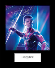 TOM HOLLAND #1 Signed 10x8 Mounted Photo Print (REPRINT) - FREE DELIVERY