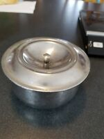 """Vintage Stainless Steel bowl with lid. D Line Dietary U.S.A. 5"""" x 3"""""""