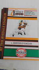 Ryedale-York v Sheffield Eagles programme 29.9.91