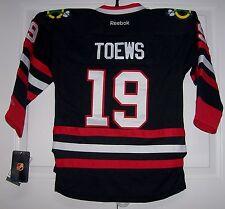 TOEWS Chicago Blackhawks Reebok Premier BLACK Jersey 2XL XXL