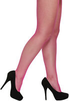Ladies Fishnet Tights Neon Pink Fancy Dress Accessory 80s 1980s