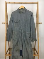 RARE VTG Sanforized Prentice Zipper Railroad Conductor Striped Coveralls Suit 38