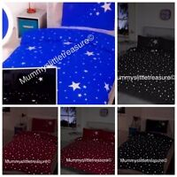 Glow In The Dark Double or Single Duvet Set choice of colours