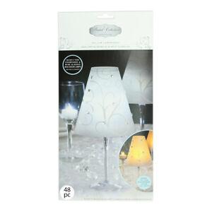 48 Wine Glass Swirl Vellum Shades by David Tutera Wedding Party Table Decoration