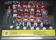 CLIPPING POSTER FOOTBALL 1985-1986 OGC NICE OGCN NISSA RAY AIGLONS