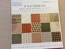 Simply Creative CHRISTMAS CHEER Paper Pad 6 X 6 Backing Papers - 30 Sheets - New