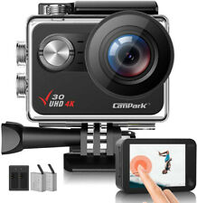 4K Action Camera Sports  20MP Campark EIS Touch Screen WiFi Waterproof Camcorder