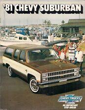 Chevrolet Suburban 1981 USA Market Sales Brochure C10 C20 K10 K20