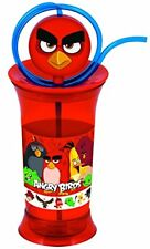 Angry Birds Novelty Curly Straw Childrens Drinks Cup - Childrens Drinks Bottle