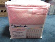Garanimals Fresh Air Pink Crib Liner Little Elephants Collection