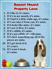Basset Hound Property Laws Magnet Personalized With Your Dog's Name #2