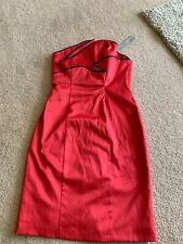 Ladies Red Size 6 RedHerring Special Edition Strapless Dress New With Tags
