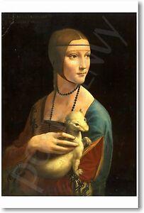 Lady with an Ermine - 1490 - Leonardo daVinci - NEW Famous Fine Art POSTER
