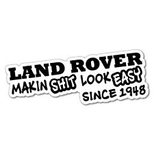 LAND ROVER SINCE 1948 Sticker Decal 4x4 4WD Funny Ute #5060J