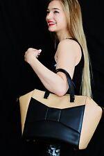 Kate Spade NY LARGE 2 Park Avenue Beau Bag MACCHIATO TAN BLACK HANDBAG TOTE