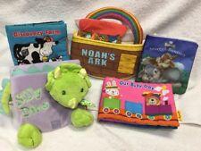Soft Play Cloth 5 Book Lot Disney Noah's Ark Discovery Farm Dino Animals Learn