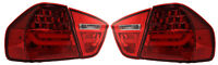 LED Back Rear Tail Lights For BMW E90 05-08 Not For 335D Red Lamps Lci Style