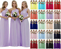 New Formal Long Chiffon Evening Party Ball Gown Prom Bridesmaid Dress Size 6-20