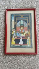 Framed (in Glass) Vintage Print of an ASIAN TABLEAU - in Excellent Condition