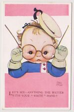 Artist postcard - Whats Matter with Write Hand by Mabel Lucie Attwell - No. 3855