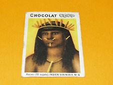 CHROMO CHOCOLATS COOP 1932 RACES PEROU PERU INDIEN SIRINIRIS