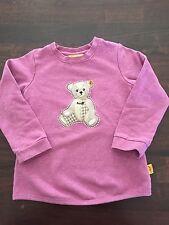 Steiff Teddy Bear Sweater Girls Size 2 Years(92Cm), Lilac