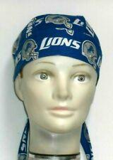 Skull Cap for Detroit  Lions on Blue 100% Cotton #213 New Handmade