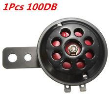 1Pc Metal Black & Red Motorcycle Car Truck Waterproof Electric Horn 12V 100DB