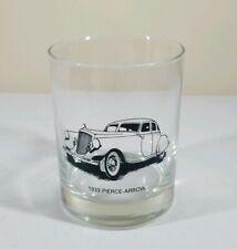 Vintage 1933 Pierce-Arrow Car Drinking Glass Barware Tumbler 12 Oz