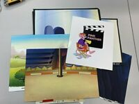LOT OF 11 PINK PANTHER PRODUCTION BACKGROUND-HAND PAINTED CEL STUDIO PROMO 10480