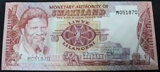 1974   Swaziland One Lilangeni Bank Note M051870    Bank Notes   KM Coins