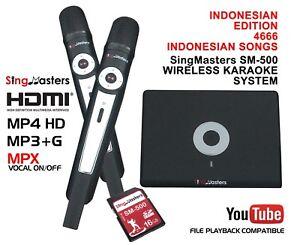 INDONESIAN Karaoke MACHINE,SingMasters Magic Sing,4666+ Indonesian Song,Wireless