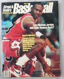 1986-87 Street & Smiths College Prep Basketball Yearbook Michael Jordan
