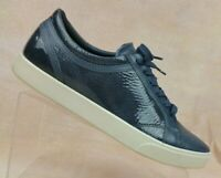 ECCO Navy Patent Leather Cap Toe Fashion Sneaker Shoes Women's US 9-9.5 / EU 40