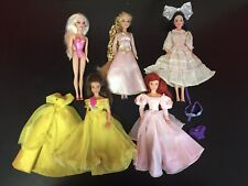 Disney Mattel Dancing Princess Collection Doll And Mini Barbie Lot And Extras