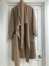 ZARA Camel Handmade Wool Waterfall Coat M (10/12/14)