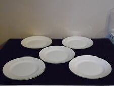 5 Vintage Balmoral England china Green Edge Trim Bread & Butter Plates 6 1/4""